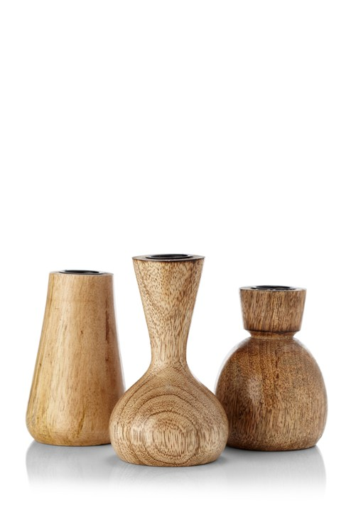 Set Of 3 Mango Candle Sticks