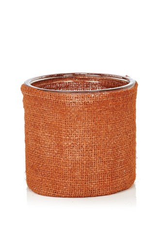 Jute & Glass Tealight