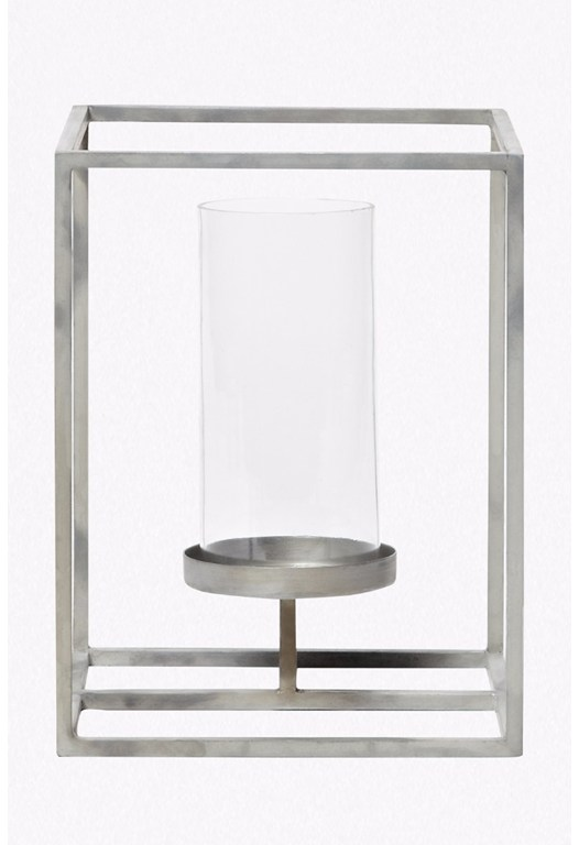 Small Cube Hurricane Candle Holder