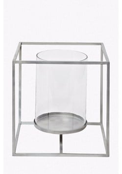 Cube Hurricane Candle Holder - Large
