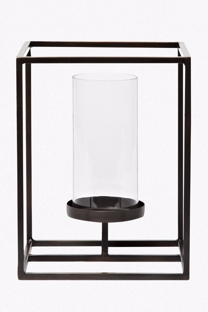 Cube Hurricane Candle Holder - Small