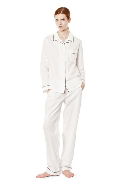 White Cotton Pyjamas Set
