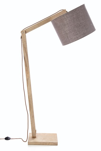 Cantilevered Mango Floor Lamp