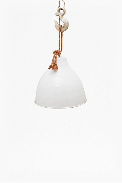 Hook and Rope Pendant Light