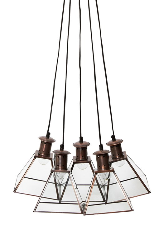 Brass Prism Pendant Light