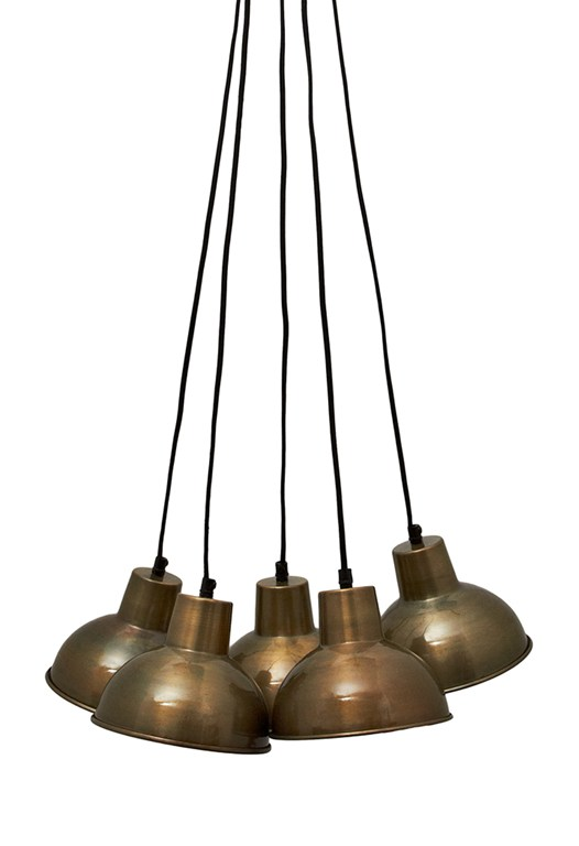 Brass Bell Cluster Light