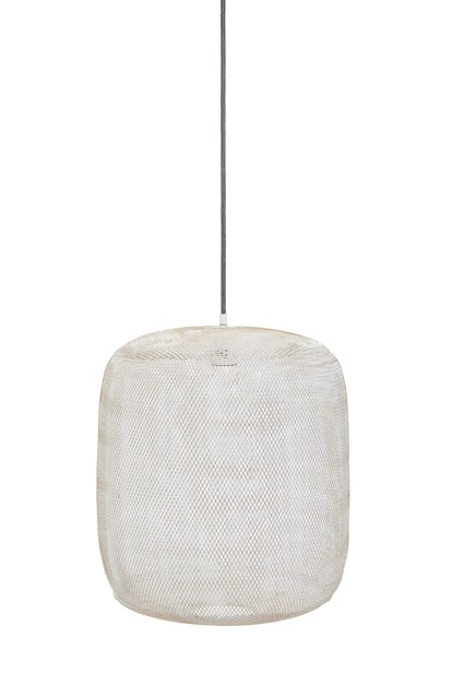White Mesh Pendant Light
