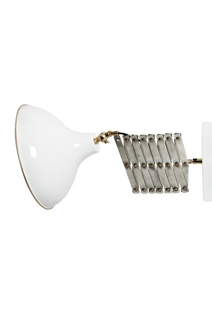 White Metal Accordion Wall Light