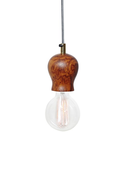 Dome Wood Pendant Light
