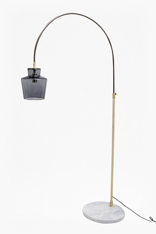 Complete the Look Smoked Floor Lamp