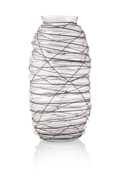 Wireworked Blown Vase