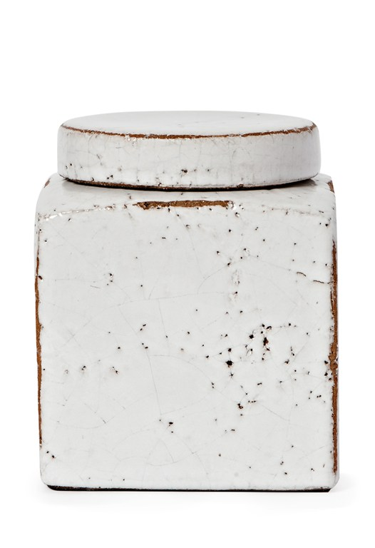 White Kiln Fired Ceramic Pot
