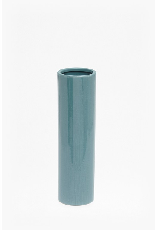 Tall Blue Pottery Vase