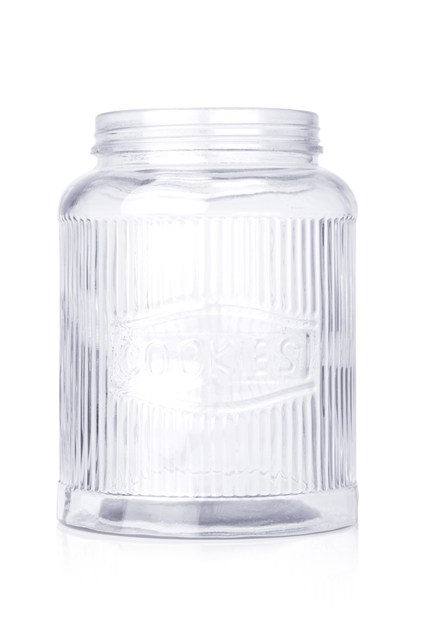 Clear Glass Storage Vase