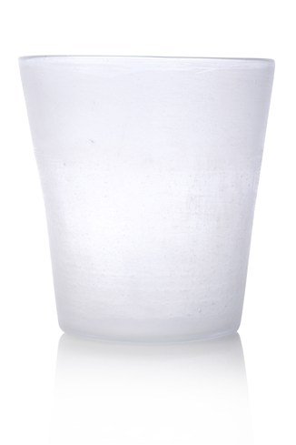 Frosted Glass Pot