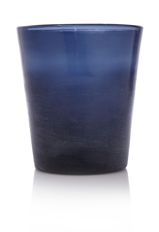 Blue Glass Pot