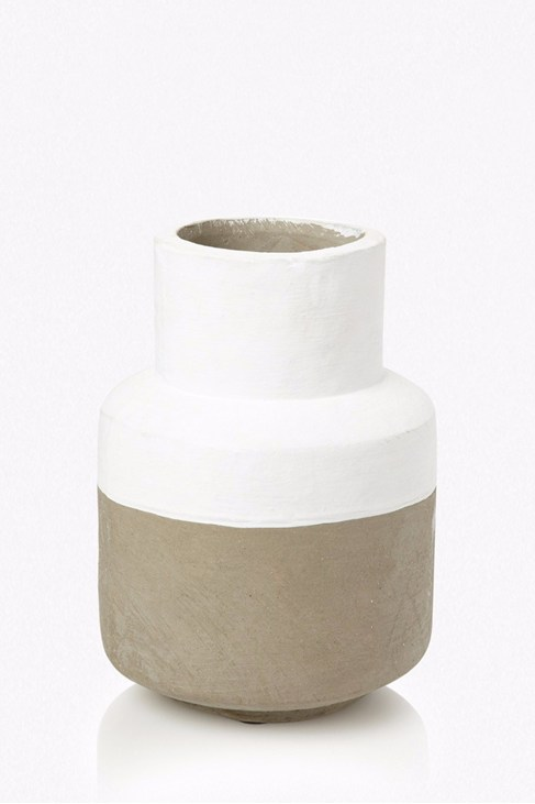 White And Grey Vase