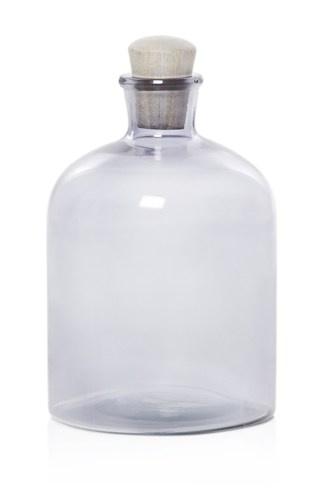 Large Glass Bottle with Stopper
