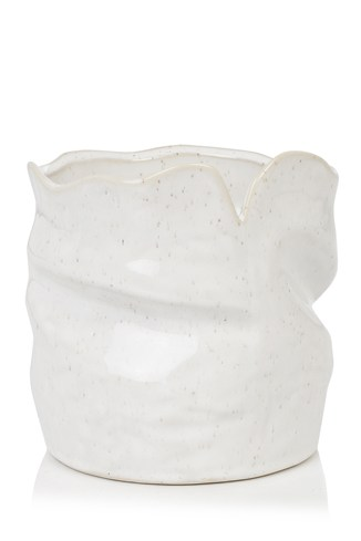 Twisty Ceramic Speckled Vase