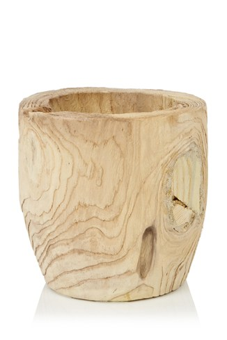 Medium Blond Wood Pot
