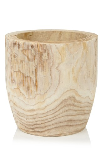 Large Blond Wood Pot