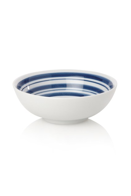 Tabletop Stripes Ceramic Bowl
