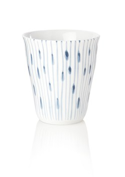Tabletop Stripes Ceramic Beaker