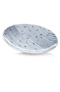 Tabletop Stripes Ceramic Plate