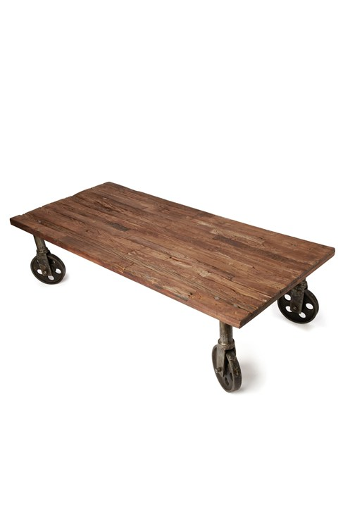 Wheely wooden coffee table occasional furniture french for Furniture x connection