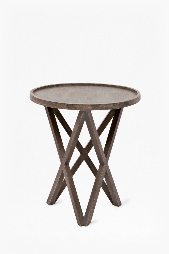 Salvage Wood Plyoned Side Table