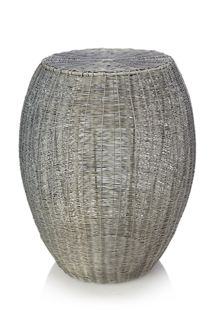 Woven Zinc Side Table