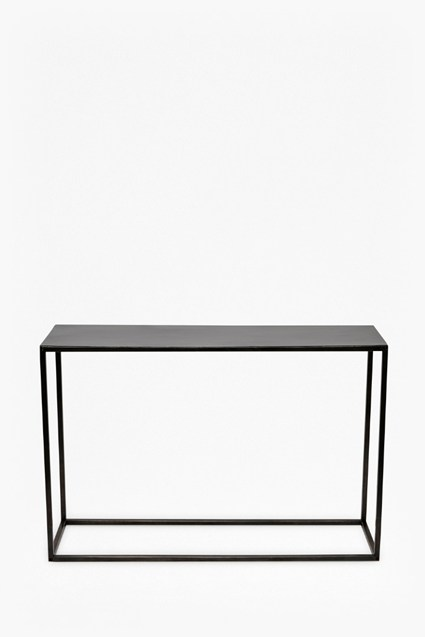 Gunmetal Console Table