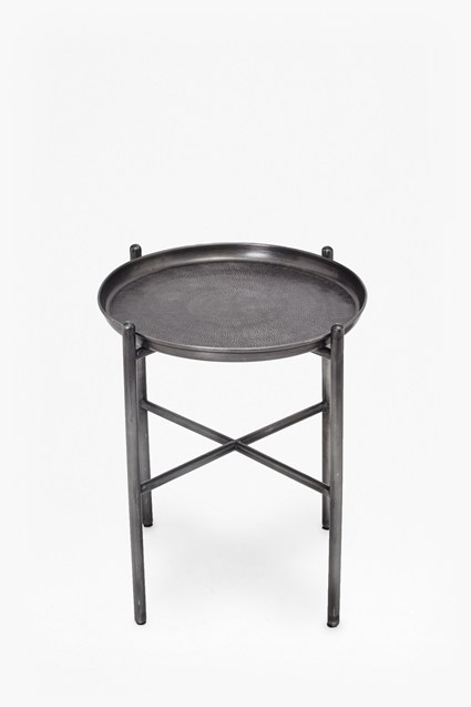 Hammered Metal Side Table