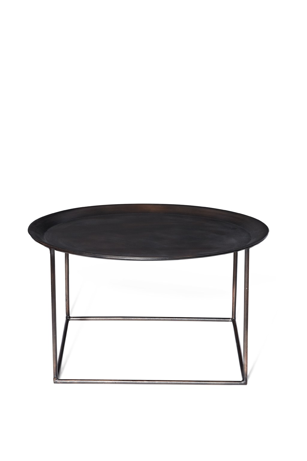 Round steel coffee table occasional furniture french for Furniture x connection