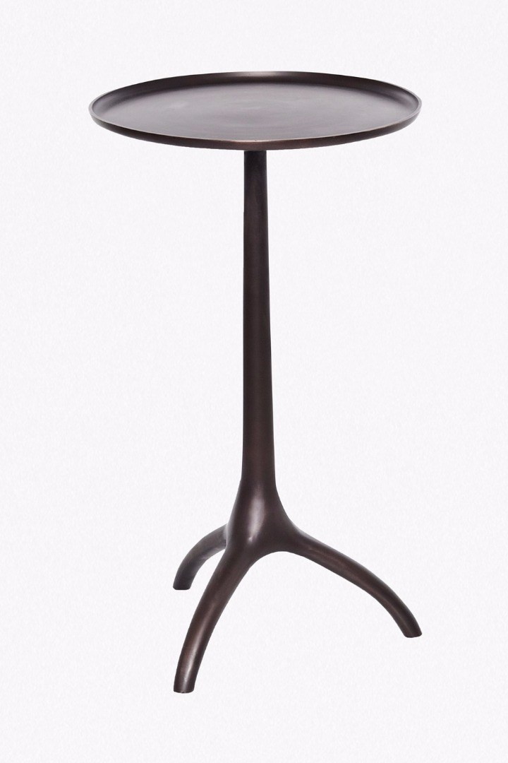 Antique copper side table collection french connection for Table y copper