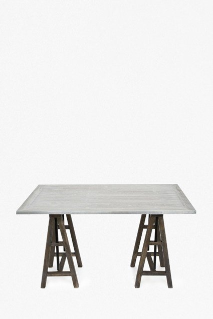 Wooden Workhouse Trestle Table