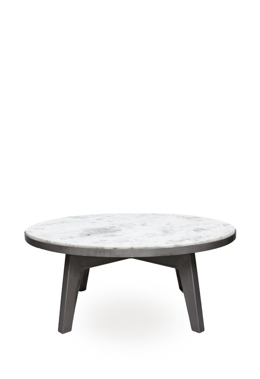 Axis Round Marble Coffee Table