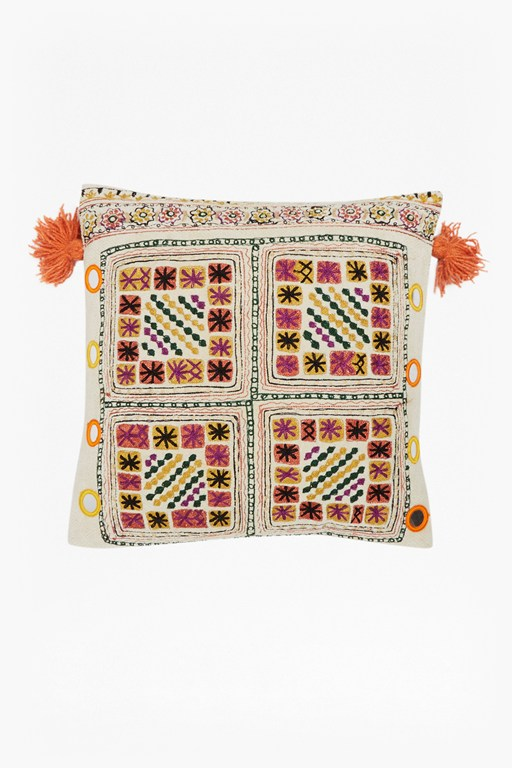 embroidered havana cushion