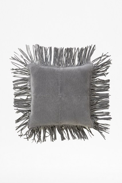 Suede Tassel Cushion