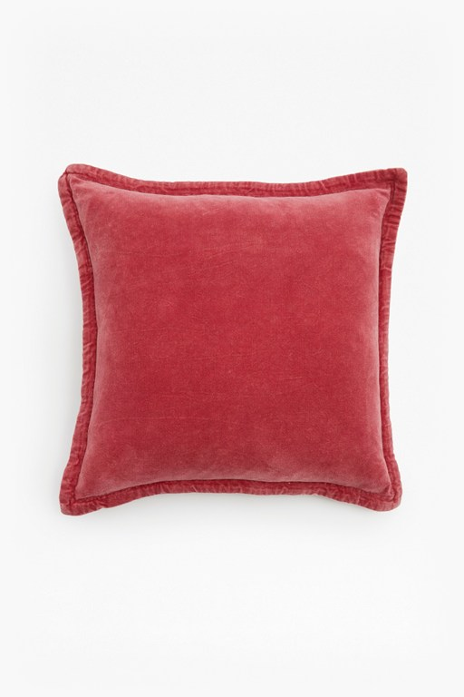 washed velvet cushion
