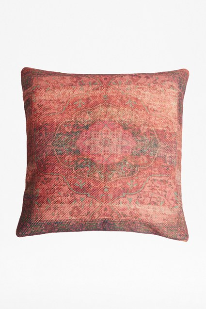 Recycled Fabric Crimson Cassis Cushion