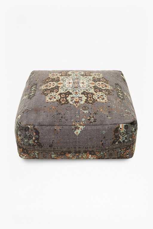 Complete the Look Grey Pandora Pouffe