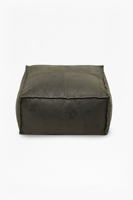 Eclipse Leather Pouffe