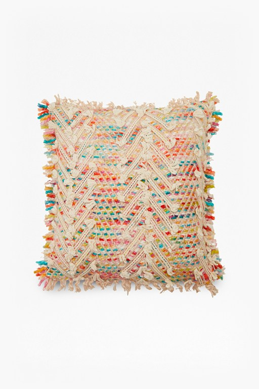 rainbow weave cushion