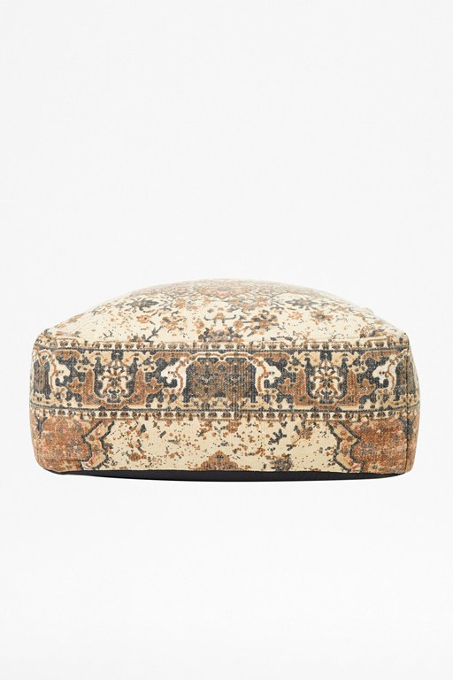 natural kasbar pouffe