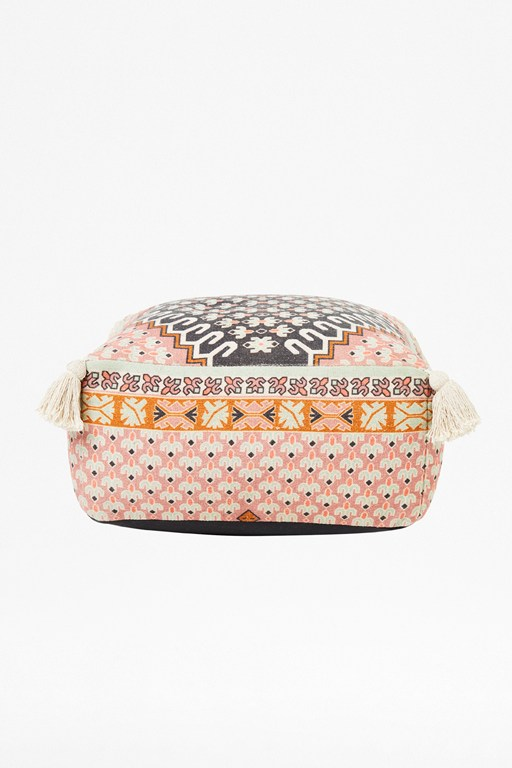 poppy field pouffe