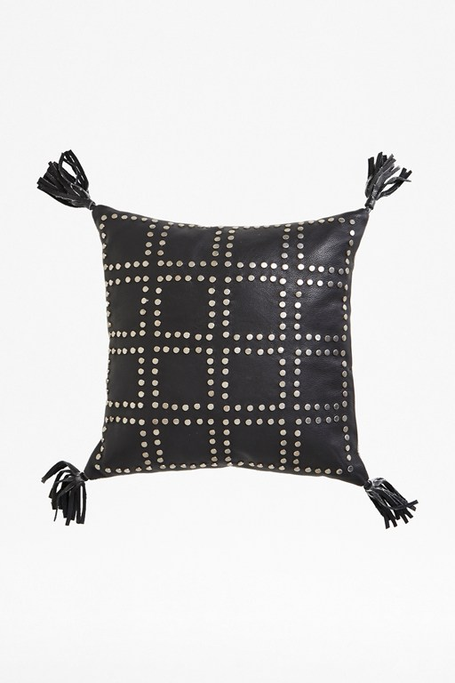 silver stud tassel cushion