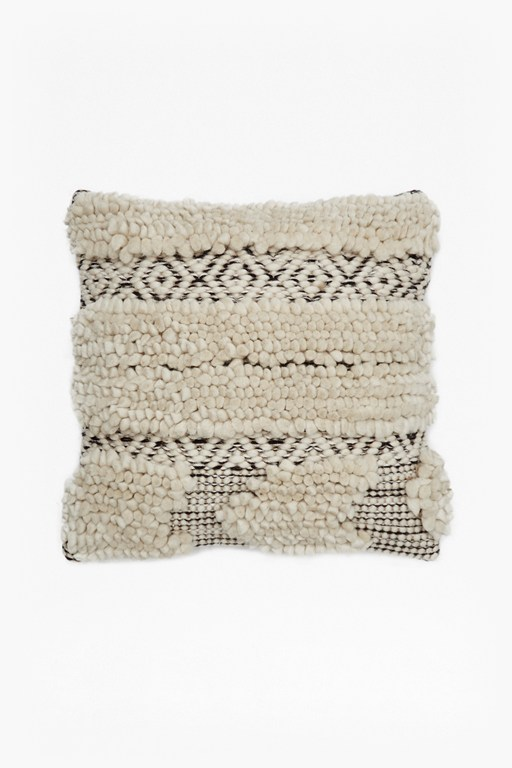 jute & textured cotton cushion