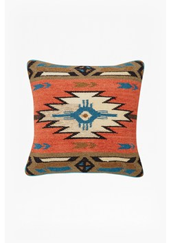 Orange & Green Tribal Patterned Cushion
