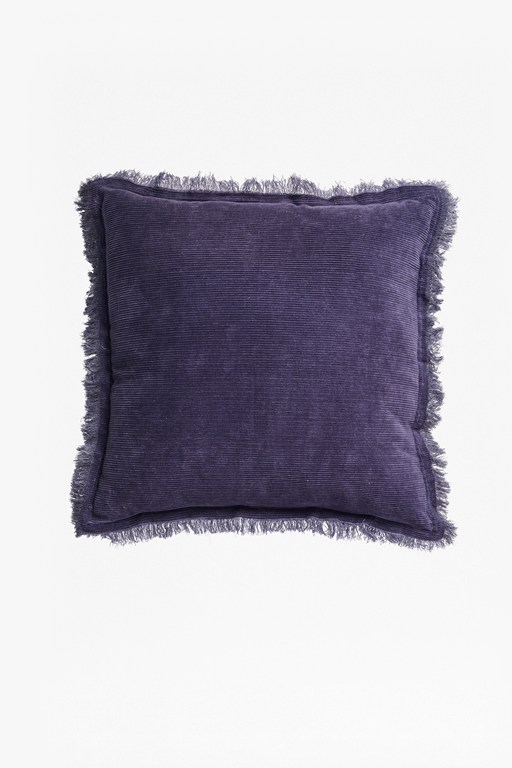 navy corduroy cushion